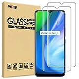 WFTE [2-Pack] Protector de Pantalla para OPPO realme V3 5G,9H Dureza,Huellas Dactilares Libre,Sin Burbujas,Cristal Templado Realme V3 5G