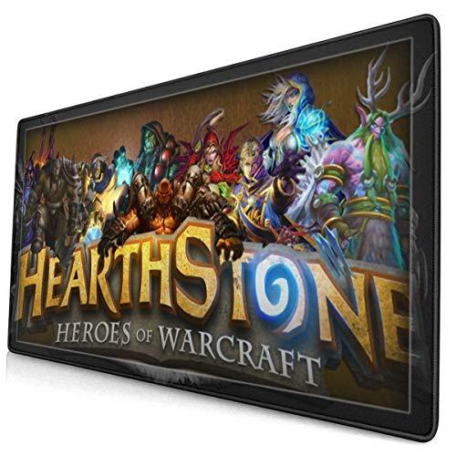 Tappetino per mouse da scrivania e ufficio, di grandi dimensioni, 15,8 x 29,5 cm, comodo tappetino per mouse con design personalizzato per laptop, computer e pc – Hearth-Stone Heroes of War-Craft
