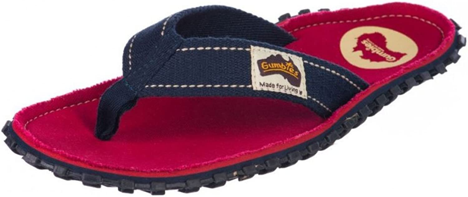 Gumbies Islander Unisex Canvas Flip Flops Coast Red