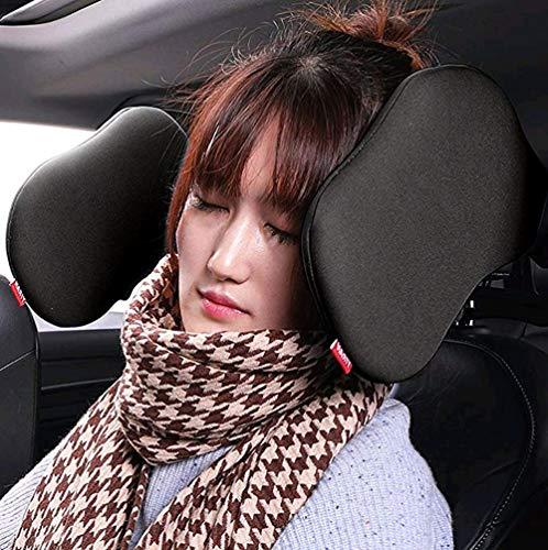 Auto Hals Kissen Nackenstütze Komfortabel Unterstützung auf beiden Seiten Autositz Kopfstütze Nacken Kissen,Autokissen (one szie, Schwarz)
