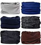 (One size, Bright color Series) - 6 PCS Seamless Multifunctional Headwear Bandana Scarf Tube Elastic Headband UV Resistance Headwrap for Running Riding Hiking Yoga Sports