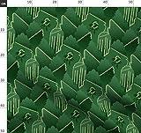 grün, abstrakt, Art Deco, Jugendstil, Damast, 1930er