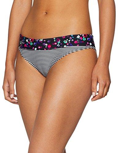 s.Oliver Damen Umschlaghose JPF-49 Bikinihose, Schwarz (Schwarz-Weiß Gestreift 12343), 36
