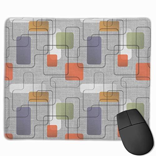 Tappetino per mouse grigio opaco Mid Century Modern Wiggle Room per desktop, computer, PC e laptop