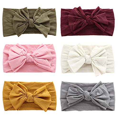 Baby Girl Headbands and Bows Soft Nylon Baby Hair Bows for Infants Newborns Toddlers Kids Hair Accessories