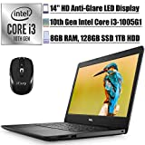 2020 Premium Dell Inspiron 14 3493 3000 Laptop Computer 14' HD LED Display 10th Gen Intel Core i3-1005G1 (Beats i5-7200U) 8GB DDR4 128GB SSD 1TB HDD MaxxAudio HDMI Win 10 + iCarp Wireless Mouse