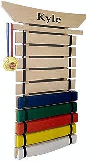 RenKata Personalized Taekwondo Belt Display for Martial Arts Belts