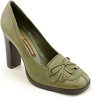 Chinese Laundry Womens Courtney Pumps Block High Heels Army Green