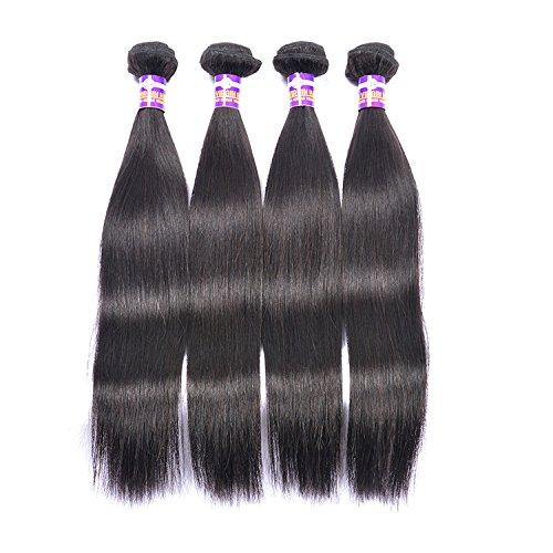 Cheveux Rideau Naturel Brésil droite Wave RIDEAU RIDEAU cheveux soyeux cheveux humains longue Droit Noir