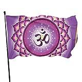 Bandera de jardín Patio al aire libre con ojales de latón Lotus Arabesque Chakra Meditación Yoga Mosca Bandera Interior Decoración del Hogar