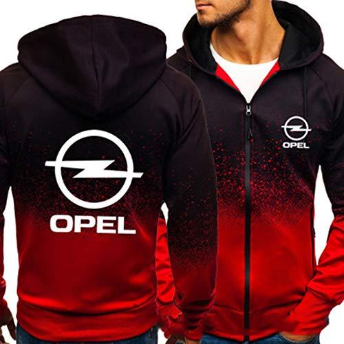 YANDING Sudadera con Capucha Opel, Jersey de impresión 3D, Chaqueta con Bolsillo con Cremallera, Sudadera de Primavera y otoño para Hombre, Regalo A-Medium