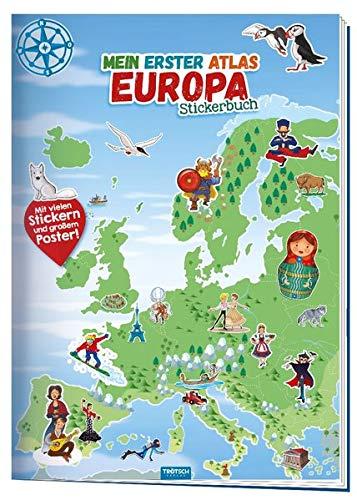 Trötsch Stickerbuch Mein erster Atlas Europa: Stickerbuch Beschäftigungbuch Lernbuch