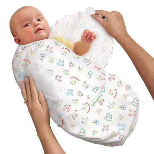 SwaddleMe 10553 - BP2AA Neugeborenes/Baumwolle/Fahrzeuge - Ganzkörper-Pucksack ist ideal bei Schreibabys Small