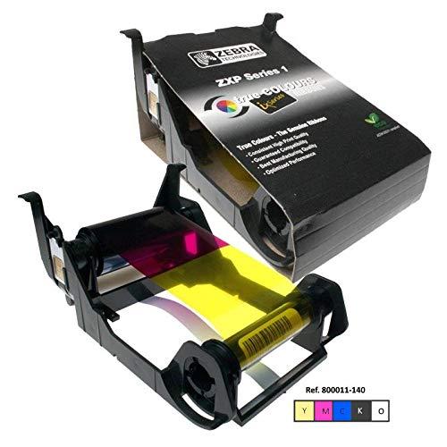 Zebra 800011-140 100pagine Nero, Ciano, Magenta, Giallo nastro per stampante