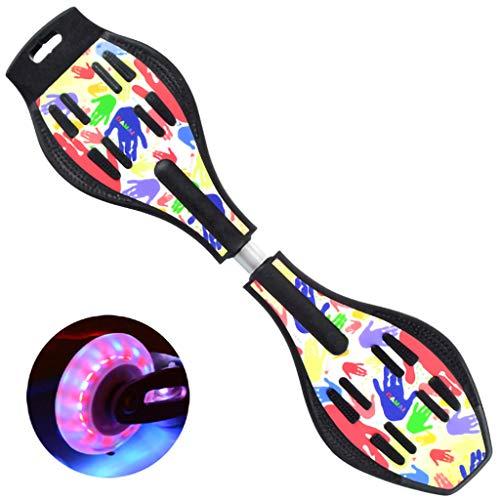 LPWCAWL Sport Skateboard, Torsions Waveboard,Anfänger Skateboard mit Zwei Rädern und Verdicktem Sockel und Federtorsionsstab,Geeignet für Kinder und Erwachsene,B