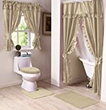 Madison Starlite Deluxe Swag Shower Sand Bathroom Window Curtain