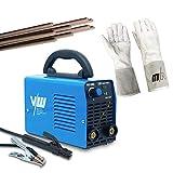 Vector Welding - Equipo de soldadura de electrodos con 200 amperios, guantes de soldadura + electrodos de varilla con asa