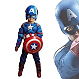 Captain America Classic Muscle Costume (Blue, Small)