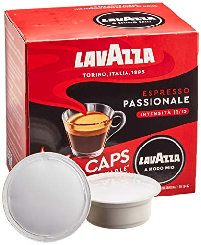 Lavazza A Modo Mio Eco Kaffeekapseln - Espresso Passionale - kompostierbar - 6 x 16 Kapseln - 6er Pack (6 x 120g)