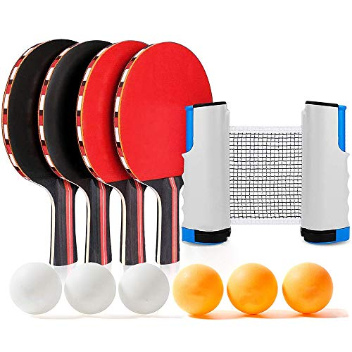 Learn More About Bocotous Portable Ping Pong Sets, Retractable Table Tennis Nets Kids Adults Indoor/...