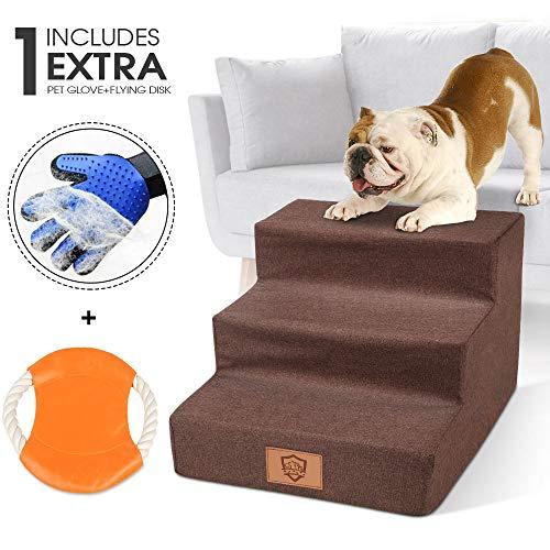 MASTERTOP escalera perros pequeños Escalera para Perros y Gatos Pequeños Escalera Ligera para Mascotas con Capacidad de Hasta 50 Libras Portátil Extraíble Lavable