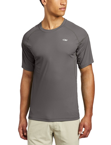 Outdoor Research Echo Tee pewter/lemongrass L