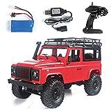 SMALLJUN Carro de Escalada, 1/12 RC Rock Crawler D90 2.4G 4Wd Coche Control Remoto Juguetes de camión Defender, Rojo