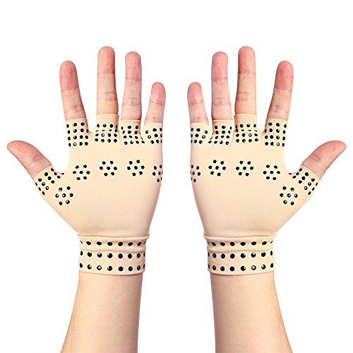 Arthritis Anti-edema Magnetic Gloves Rheumatoid Hand Pain Health...