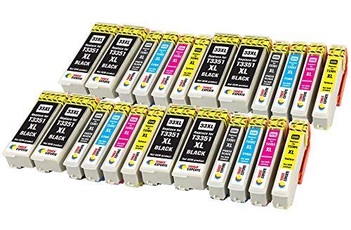 TONER EXPERTE® 24 XL Cartucce d'inchiostro compatibili con Epson 33XL Expression Premium XP-530 XP-540 XP-630 XP-635 XP-640 XP-645 XP-7100 XP-830 XP-900 | Alta Capacità