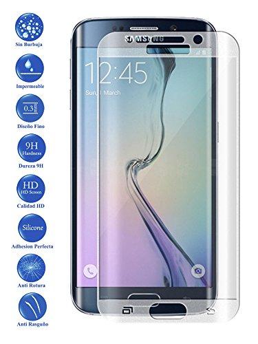 Todotumovil Protector de Pantalla Samsung Galaxy S6 Edge Color Transparente Completo 3D Cristal Templado Vidrio Curvo para movil