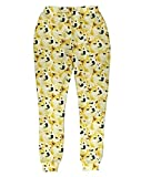 Men's Harajuku Style Retro Funny Doge Print 3D Joggers Sport Sweatpant XL Yellow