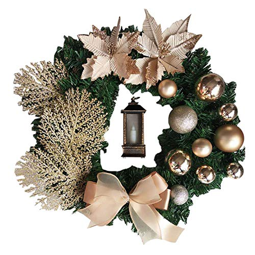 Elegant Red Christmas Wreath Champagne Gold Christmas Wreath Window Door Wall Ornament Decorations