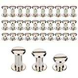 TecUnite Screw Post Metal Chicago Screws Binding Screw Leather Screw Nail Rivet Button Solid Belt Tack Screw, 1/4, 3/8 and 1/2 Inch, Silvery (75)