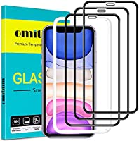 omitium Vetro Temperato per iPhone 11, [3 Pezzi] Pellicola Protettiva iPhone XR con Cornice di Allineamento [Copertura...
