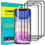 omitium Vetro Temperato per iPhone 11, [3 Pezzi] Pellicola Protettiva iPhone XR con Cornice di Allineamento...