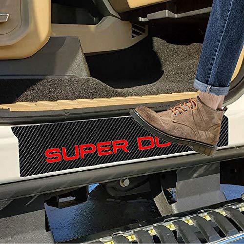 SENYAZON Super Duty Decal Sticker Carbon Fibre Vinyl Reflective Car Door Sill...