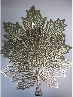 Autumn Leaves Metallic Vinyl Placemat 4-Pack