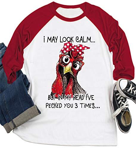 T-Shirt für Damen mit Aufschrift 'I May...