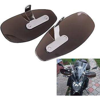 Clear Goldfire Motorcycle Wind Deflector Hand Guard Protector Shield Set Compatible with Harley Honda Kawasaki Suzuki Yamaha