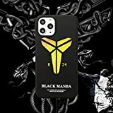 Coque Kobe pour iPhone 7/8, 7/8 Plus, X/XS, XR, XS Max, 11, 11 Pro, 11 Pro Max, Basketball Player...