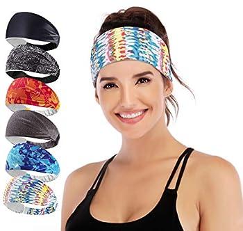 IUGA Yoga Headband for Women Sweabands for Workout Running Yoga Sport 6 Styles Women s Fashion Headband Performance Elastic