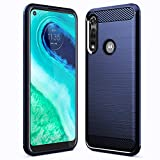 Sucnakp Moto G Fast Case Motorola G Fast Case TPU Shock Absorption Technology Raised Bezels Protective for Motorola Moto G Fast(TPU Blue)