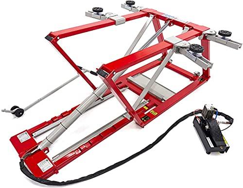 Tools by HBM Ponte sollevatore mobile, 2500 kg, 2,5 t, regolabile e extra basso, ponte sollevatore portatile per auto