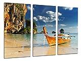 Cuadros Camara Fotográfico Paisaje Caribe, Playa, Mar, Barcas, Paraiso Tropical Tamaño total: 97 x...