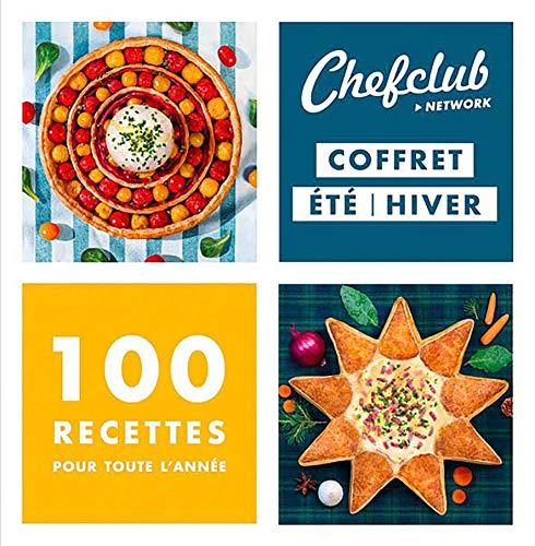 Chefclub - Coffret de deux livres de cuisine : Cuisine d'été et Cuisine d'hiver - 100 recettes pour toute l'année