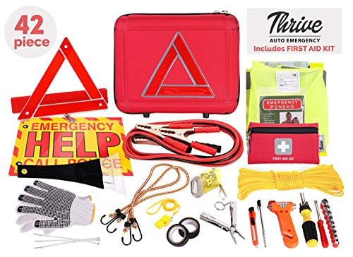 Thrive Roadside Assistance Auto Emergency Kit - Ideal Winter Accessory for Your car, Truck, Camper