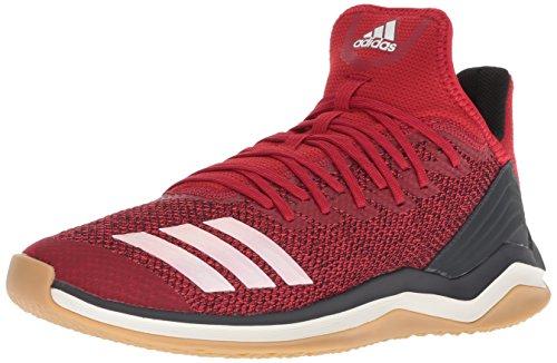 adidas Men's Icon 4 Baseball Shoe, Power red/Cloud White/Carbon, 13 M US