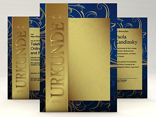 Urkundenpapier Gold, 50 Blatt für Zertifikate DIN A4, 190g/qm