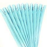 Cremalleras 20pcs 3# (3-10 Pulgadas) 7.5-25CM Nylon Cerrado Bobina Cremallera Proceso de Costura a Medida Opcional Multicolor (Color : Lake Blue, Size : 10cm)