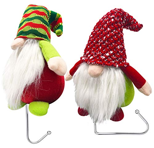 Christmas Gnomes Plush Mantle Hanger for Holiday Stockings